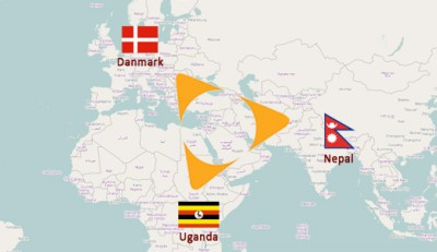 Danmark - Uganda -Nepal